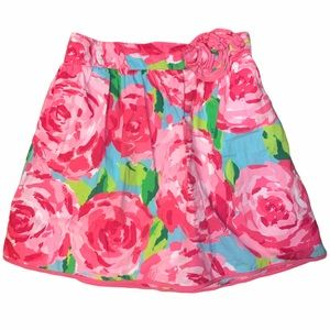 Lilly Pulitzer girls floral skirt
